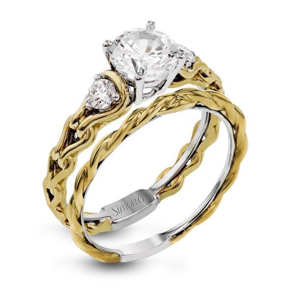 Simon G Remarkable 18kt Two-tone White & Yellow Gold Engagement Set image 2