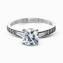 Simon G Contemporary 18kt White Gold Diamond Engagement Ring image 2