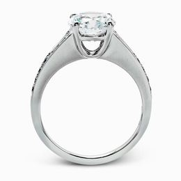 Simon G Contemporary 18kt White Gold Diamond Engagement Ring image 3