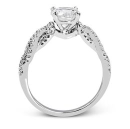 Simon G 18kt White Gold Lovers Knots Engagement Ring image 2