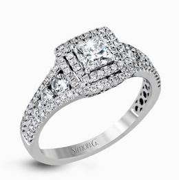 Simon G Dazzling 18kt White Gold Contemporary-Styled Engagement Ring image 2