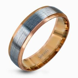 Simon G 14kt White & Rose Gold Two-tone Men's Wedding Band image 2