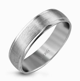 Simon G 14kt White Gold Sophisticated Men's Wedding Band image 2