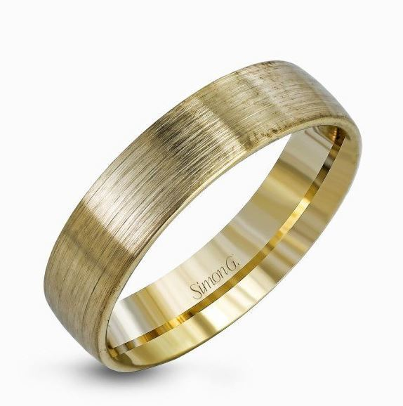 Simon G 14kt Classic Brushed Yellow Gold Men's Wedding Band image 2