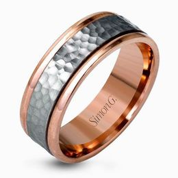 Simon G Platinum & 18kt Rose Gold Two-Tone Men's Wedding Band image 2