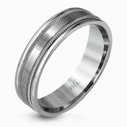 Simon G Brushed Platinum Classic Men's Wedding Band image 2