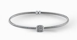 Simon G Elegant 18kt White Gold Bangle Bracelet image 2