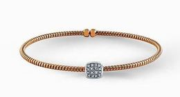 Simon G 18kt Rose Gold Diamond Bangle Bracelet image 2