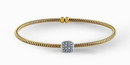Simon G 18kt Yellow Gold Diamond Bangle Bracelet image 2