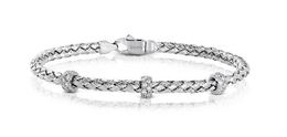 Simon G 18kt White Gold Woven Design Bangle Bracelet image 2