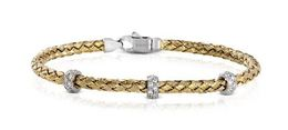 Simon G 18kt Yellow Gold Woven Design Bangle Bracelet image 2