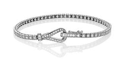 Simon G Lovely 18kt White Gold Buckle Design Bracelet image 2