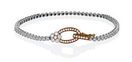 Simon G 18kt White & Rose Gold Buckle Bracelet image 2