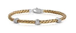 Simon G Woven 18kt Yellow Gold Bangle Bracelet image 2