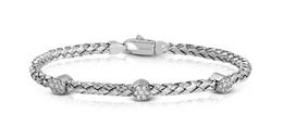 Simon G Woven 18kt White Gold Bangle Bracelet image 2
