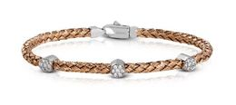 Simon G Woven 18kt Rose Gold Bangle Bracelet image 2
