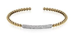 Simon G 14kt Yellow Gold Stackable Bangle Bracelet image 2