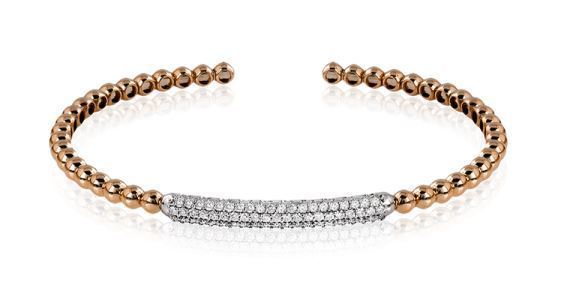 Simon G 18kt Rose Gold Stackable Bangle Bracelet image 2