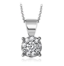 Simon G Classic 18kt White Gold Pendant With White Diamond Cluster image 2