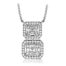 Simon G 18kt White Gold Diamond Pendant Necklace image 2