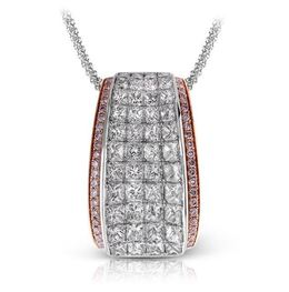 Simon G 18kt White & Rose Gold Breathtaking Diamond Pendant image 2