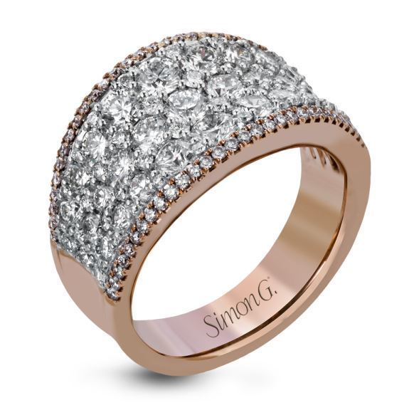 Simon G 18kt White & Rose Gold Bold Statement Ring image 2
