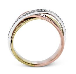 Simon G 18kt Rose, White & Yellow Gold Dynamic Overlapping Ring image 3