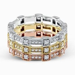 Simon G 18kt White, Rose & Yellow Gold Trio Band Set image 2