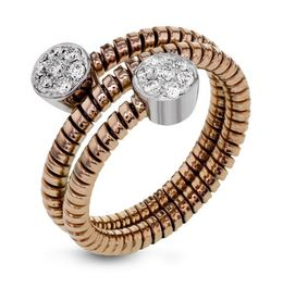 Simon G 18kt Rose & White Gold Spiraling Design Ring image 2