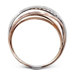 Simon G 18kt Rose & White Gold Bold Modern Band image 3