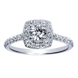 Sparkling 14K Diamond Engagement Ring By Polenza image 2