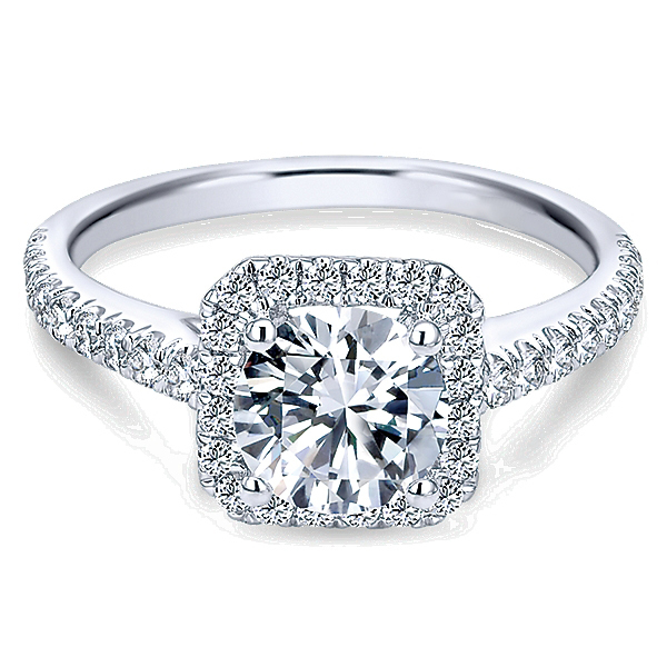 Diamond Halo Engagement Ring By Polenza image 2