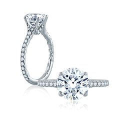 A. Jaffe Delicate Floating Gallery Engagement Ring image 2
