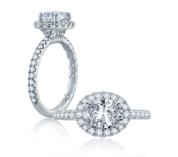 A. Jaffe East/West Oval Cut Modern Classic Engagement Ring image 2