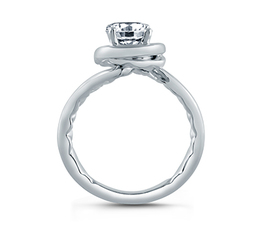 A. Jaffe Four Prong Round Wave-Inspired High Polish Engagement Ring image 2