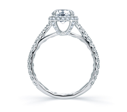 A. Jaffe Quilted Round Halo Engagement Ring image 3