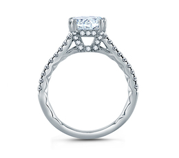 A. Jaffe East/West Oval Cut Four Prong Engagement Ring image 2